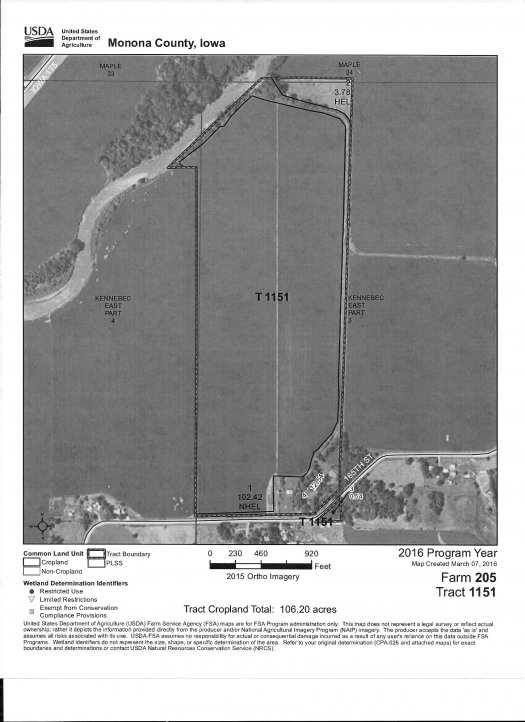 LAND AUCTION 446.83 Acres m/l in 2 Tracts, Center Township, Monona County, IA